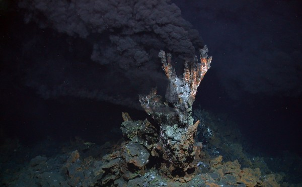 A hydrothermal vent where life is thought to have had its beginnings, Credit to the Max Planck Institute of Marine Biology for this image https://www.mpi-bremen.de/en/Home.html