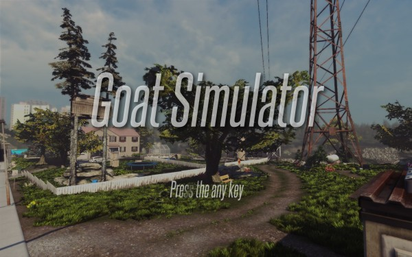 Goat Simulator Review Screenshot Wallpaper Title Screen