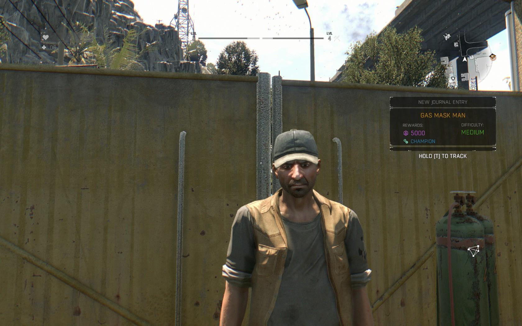 Dying Light Review Screenshot Wallpaper Gas Mask Man