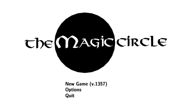 The Magic Cricle Review Screenshot Wallpaper Title Screen