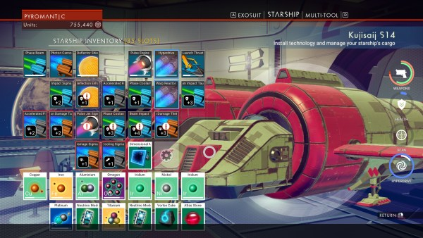No Man's Sky Review Screenshot Wallpaper Inventory Space