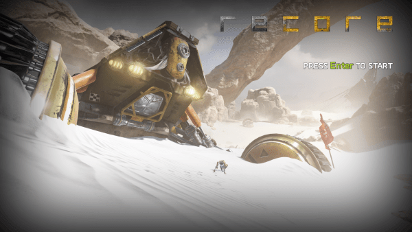 recore-review-screenshot-wallpaper-title-screen