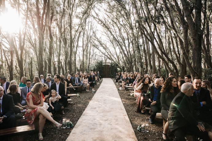 Florida Rustic Barn Wedding Reception