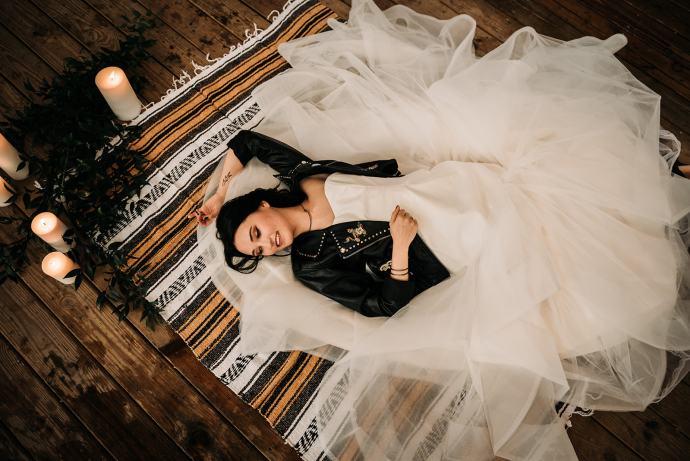 Bridal photo at Swamp Rabbit