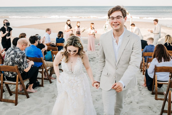 Ceremony photo at corolla beach