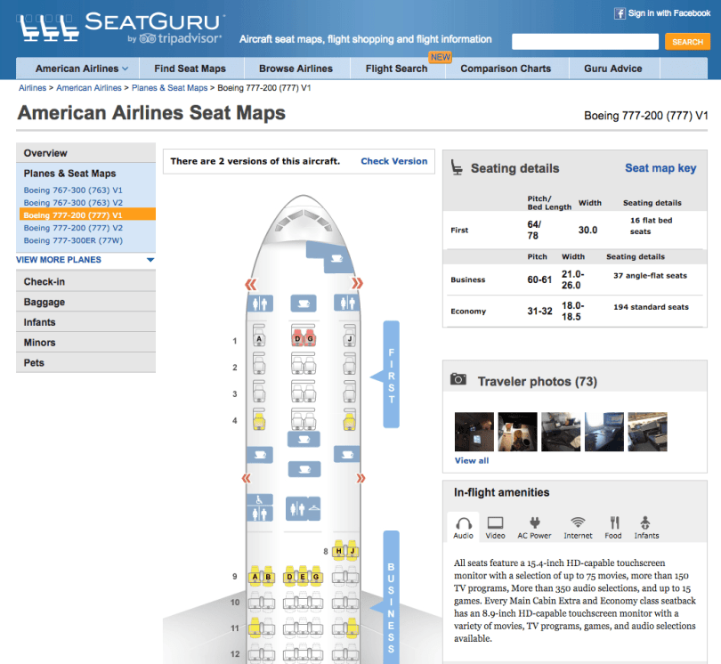 Seat Guru - Airplane Guide
