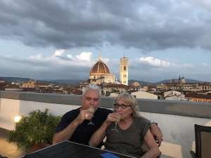 Cameron and Jan (his mum) Florence 2018-07-11