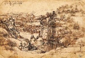 Leonardo Da Vinci landscape vinci