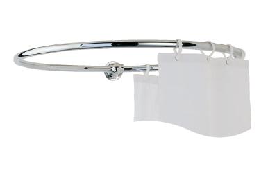 bathrooms round shower curtain rails