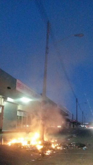Fire not too far from the Komani Magistrate's Court