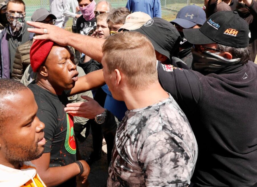 IN PICS | EFF clash with parents outside Brackenfell school over whites-only party - The Rep