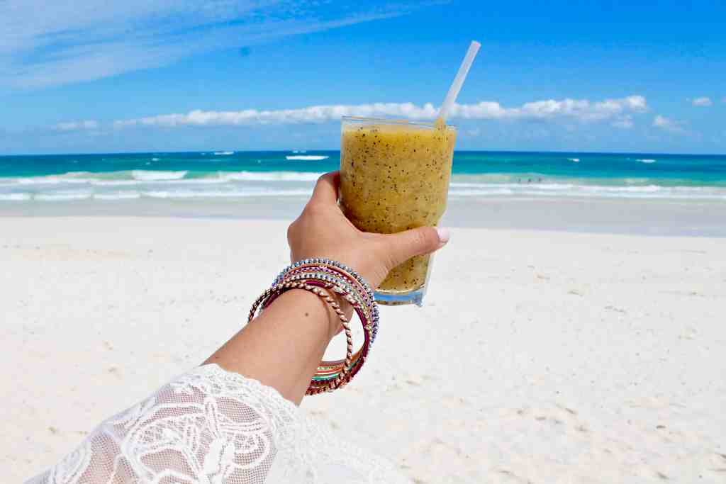 Coco Tulum Mexico Beach Travel Guide Passion Fruit Daquiri Drink