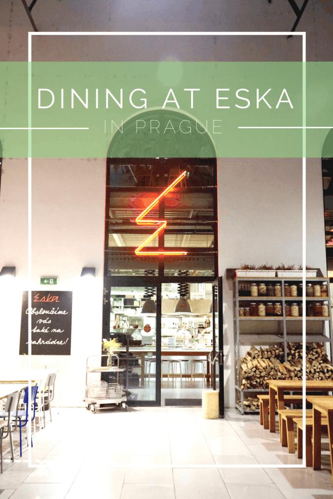 Dining at Eska in Prague | The Republic of Rose