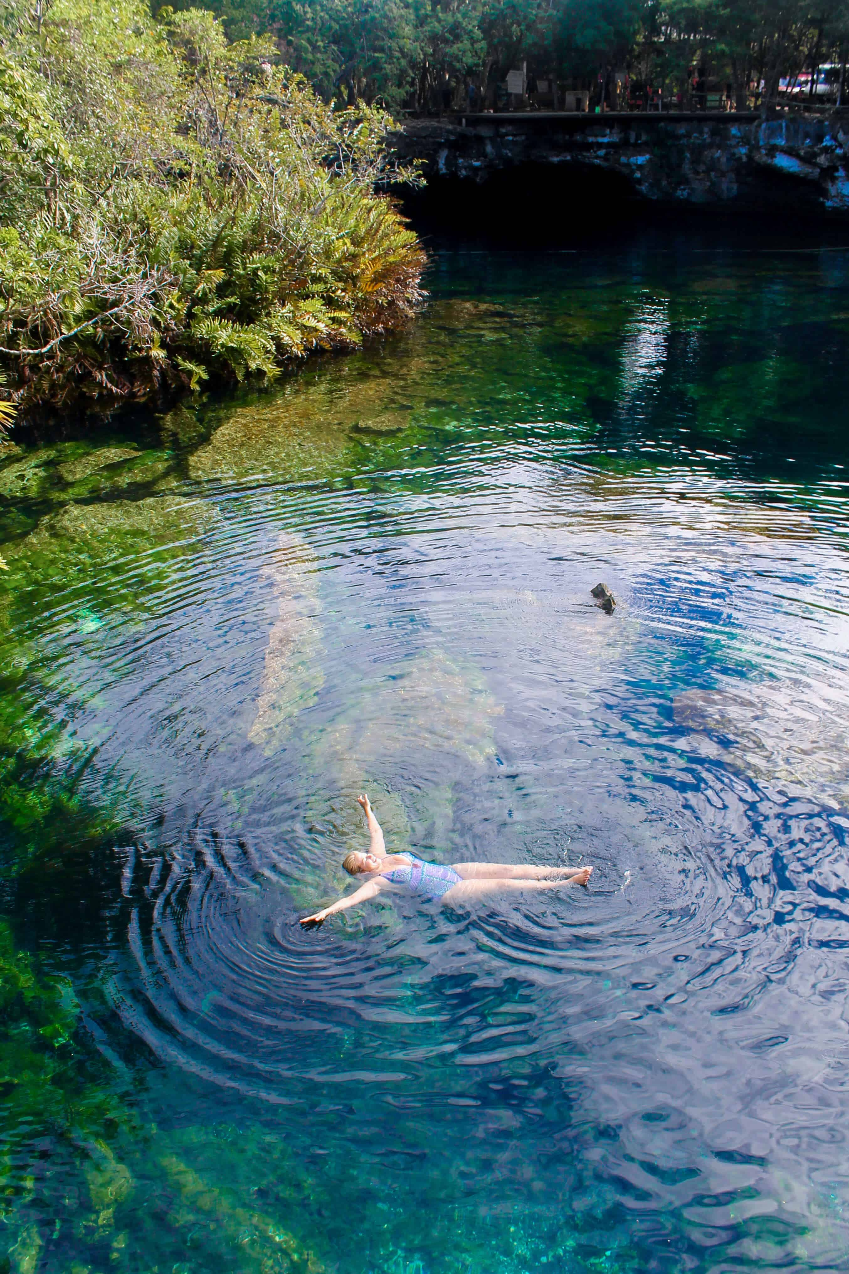 Top Day Trips From Tulum Mexico Cenote Azul   The Republic of Rose