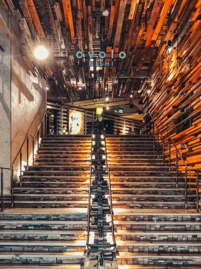 Ovolo Nishi Hotel Canberra Staircase