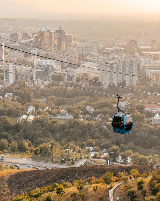 Kok Tobe Hill Almaty Kazakistan