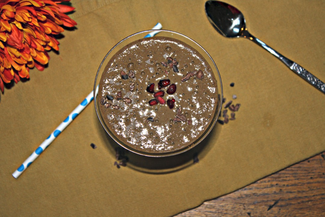 chocolate berry smoothie edited overhead