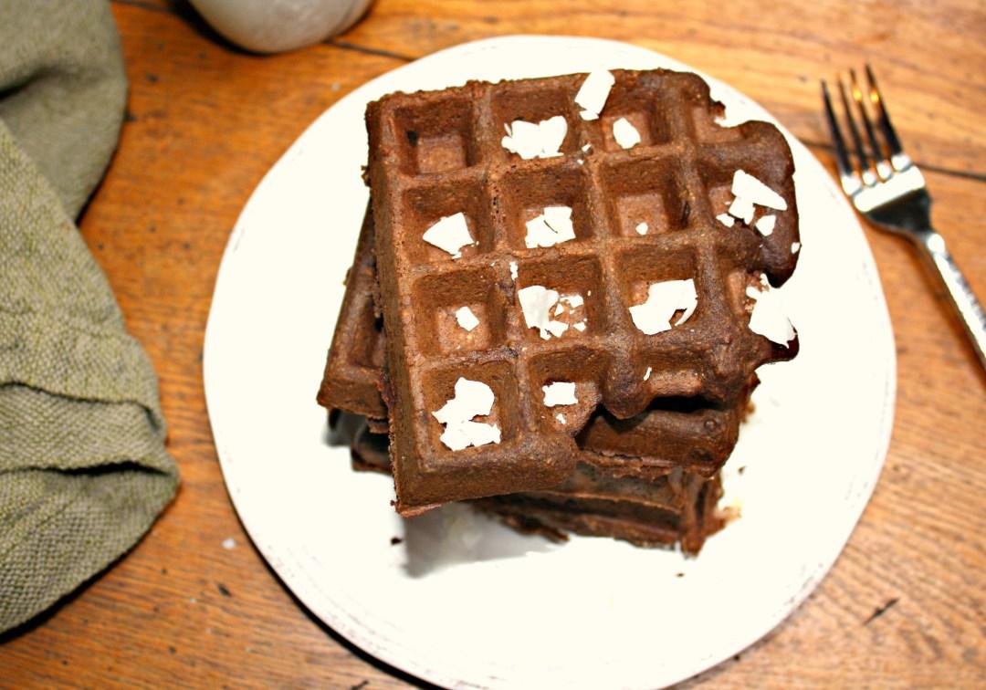 edited chocolate waffles overhead