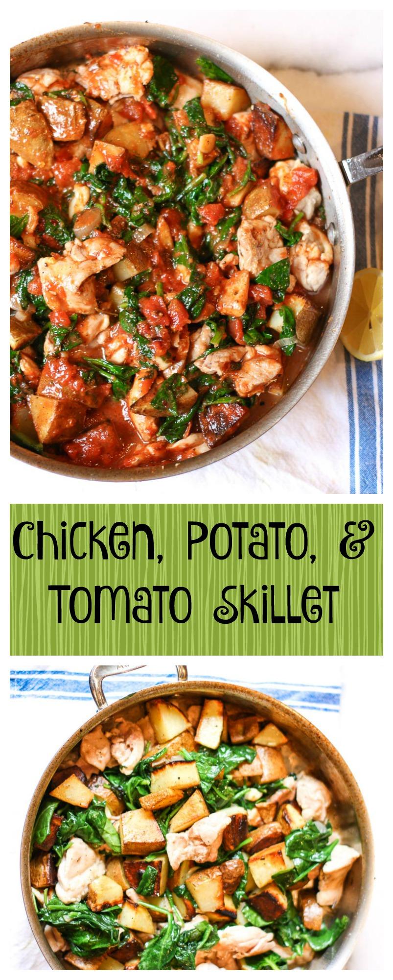 Chicken, Potato, And Tomato Skillet