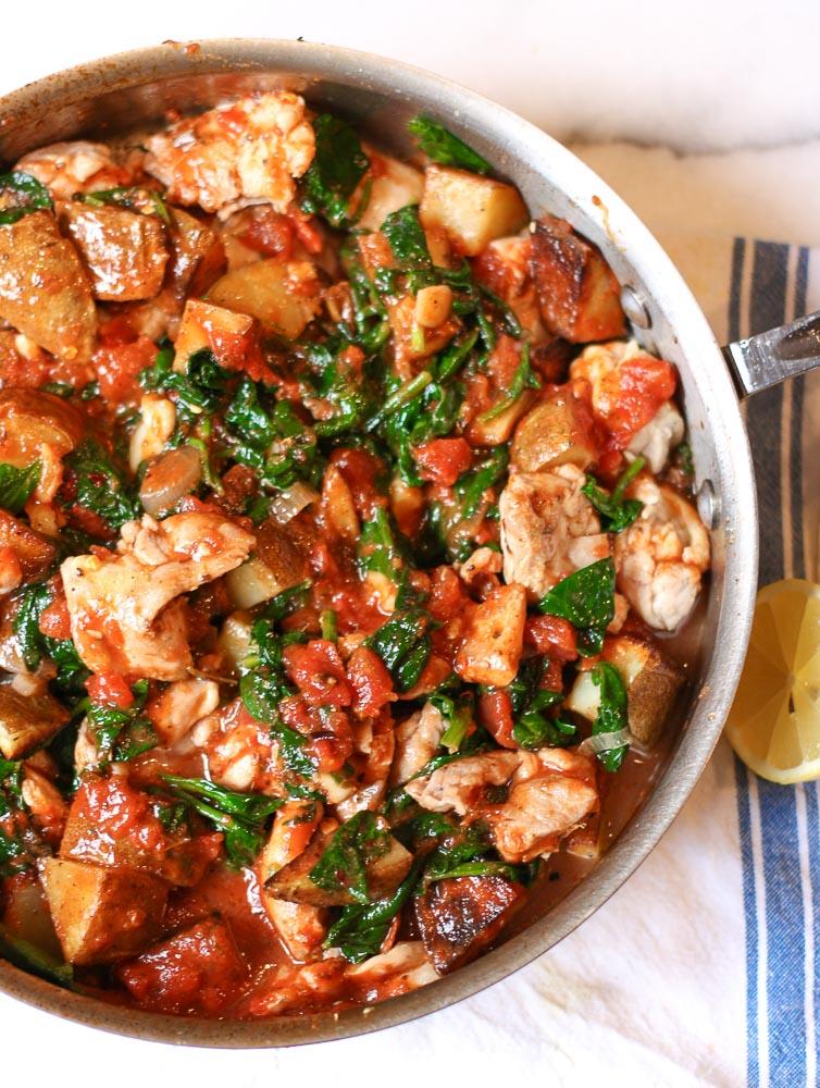 Chicken, Tomato, And Potato Skillet