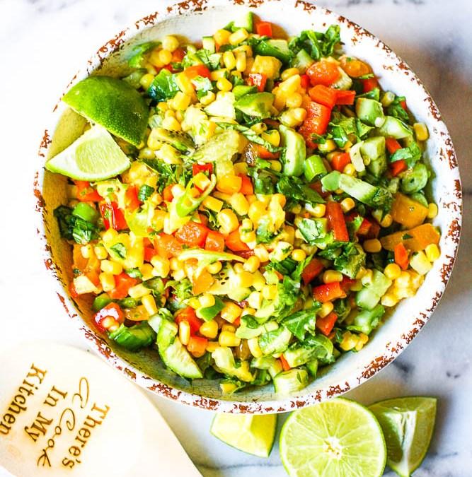 Raw Corn And Vegetable Salad