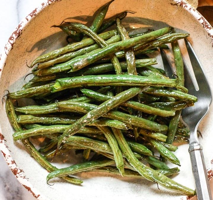 Salt And Pepper Roasted Green Beans