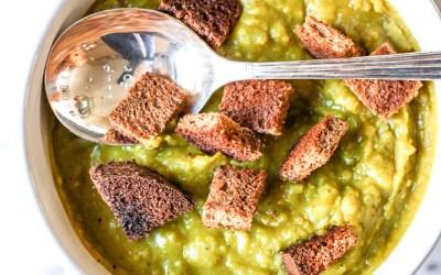 slow cooker vegan split pea soup