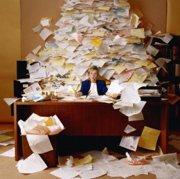 Mountain of Loose Papers in Office needs feng shui