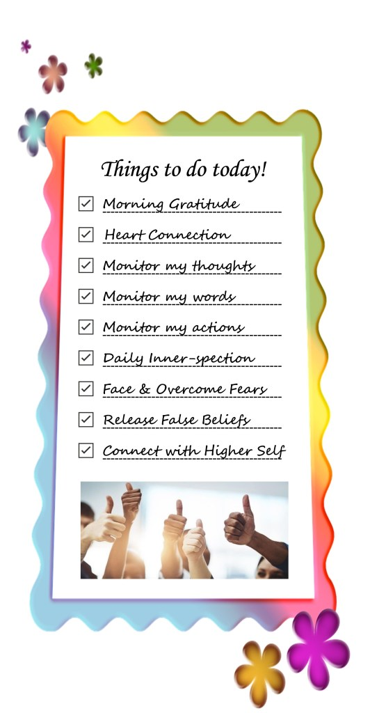 Daily Spiritual Practices to do list