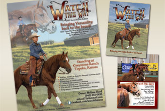 Watch This Way full page ad & stallion card