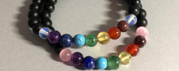 Variation #1709 of Chakra Balancing Bracelet – Matte Black