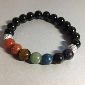 Chakra Balancing Bracelet – Black