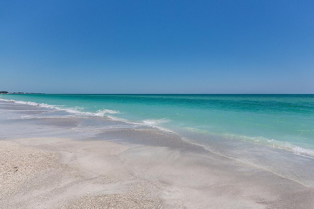 blue ocean and sand