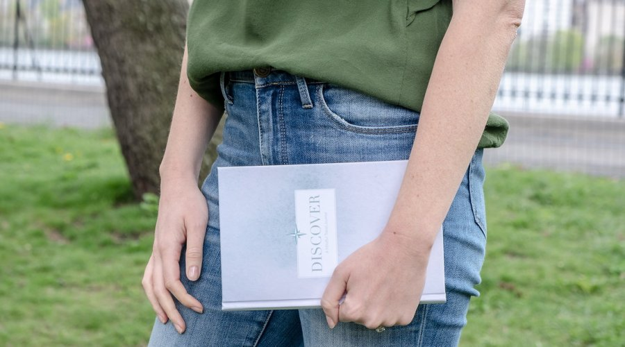 Discover Journal, a guided travel journal with prompts for self-discovery and meaningful memories