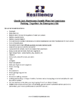 Checklist for Family Emergency Plan