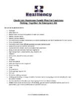 Checklist for Family Emergency Plan