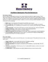 Tip Sheet Emergency Plan for Businesses