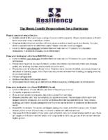 Tip Sheet Family Preparations for a Hurricane