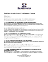 Basic Facts about the National Flood Insurance Program
