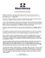 Community Resilience Overview