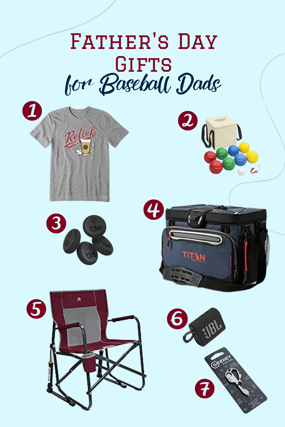 Father's Day Gift Ideas, baseball dad