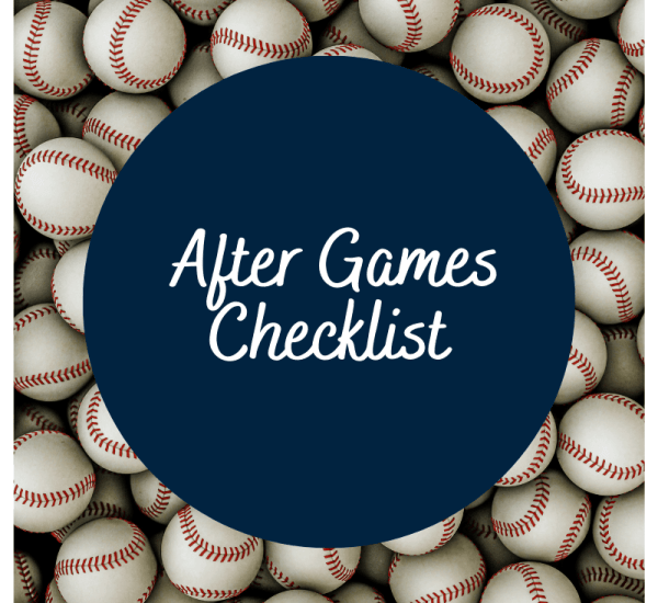 After Games and Practice Checklist