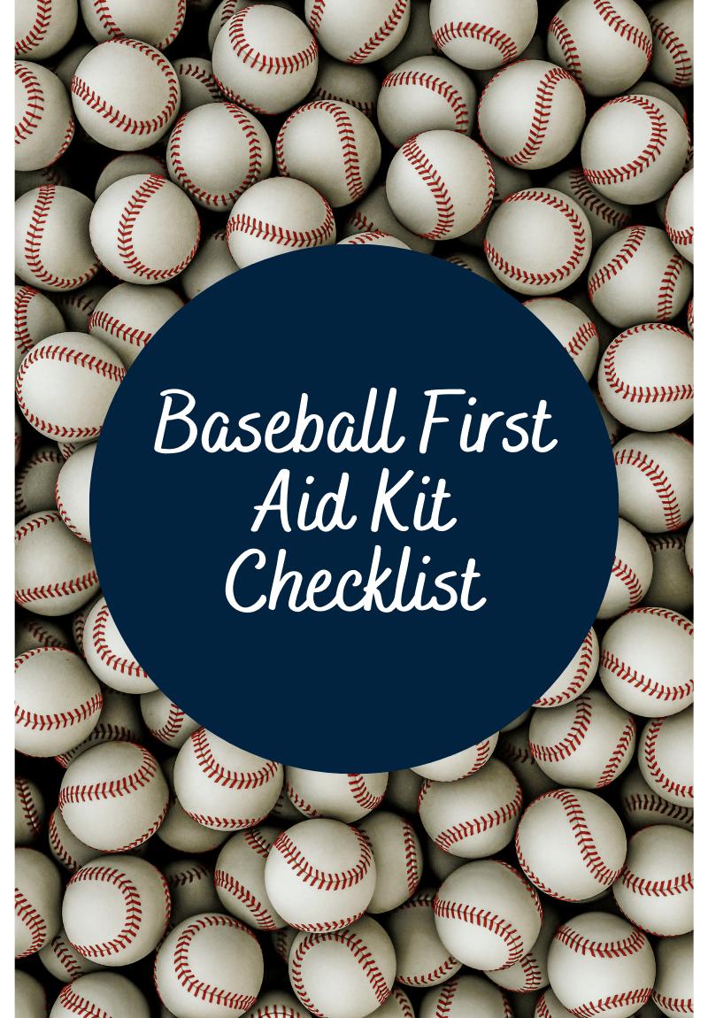 Baseball First Aid Kit Checklist
