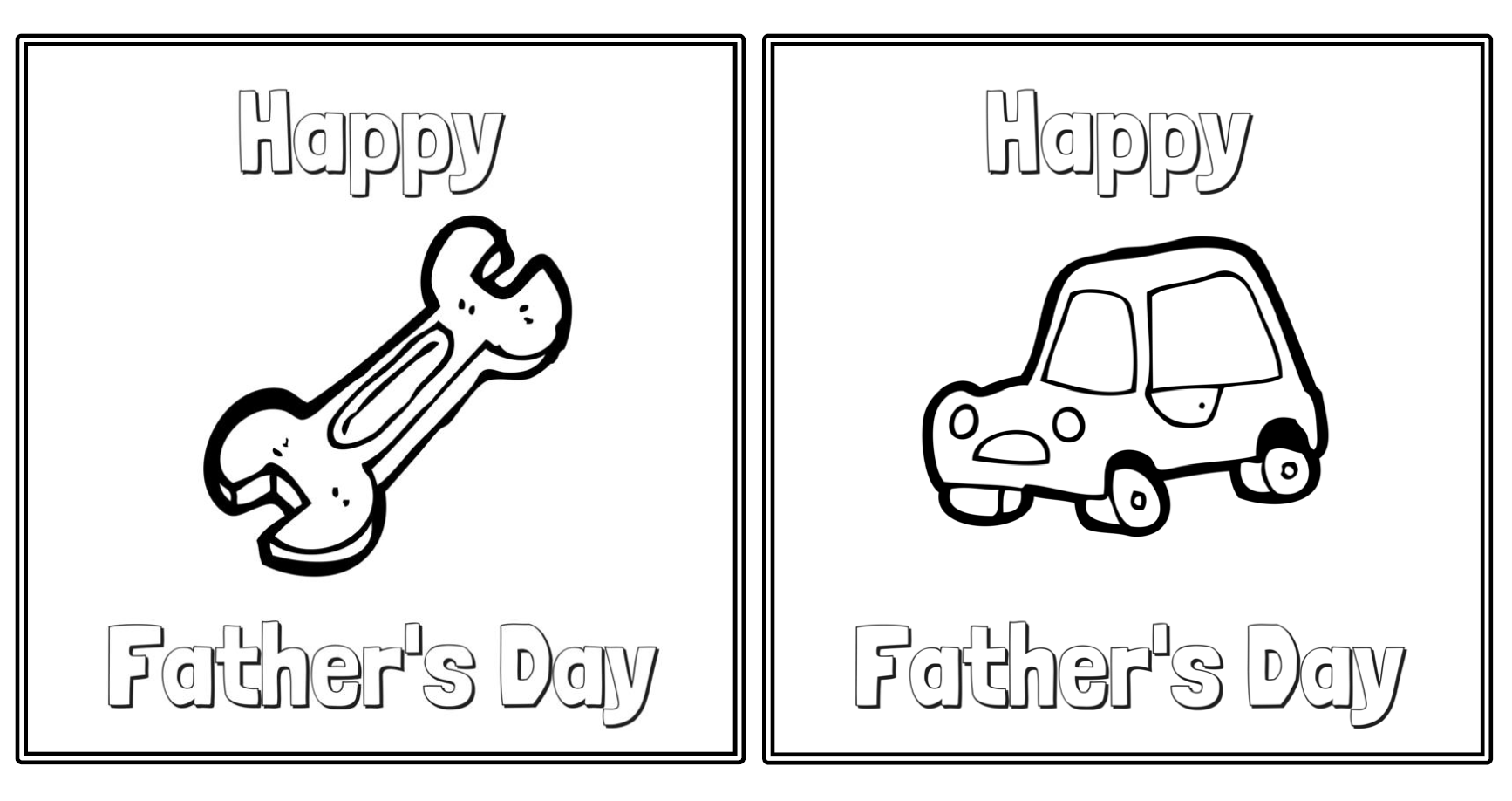 Coloring Cards For Father S Day