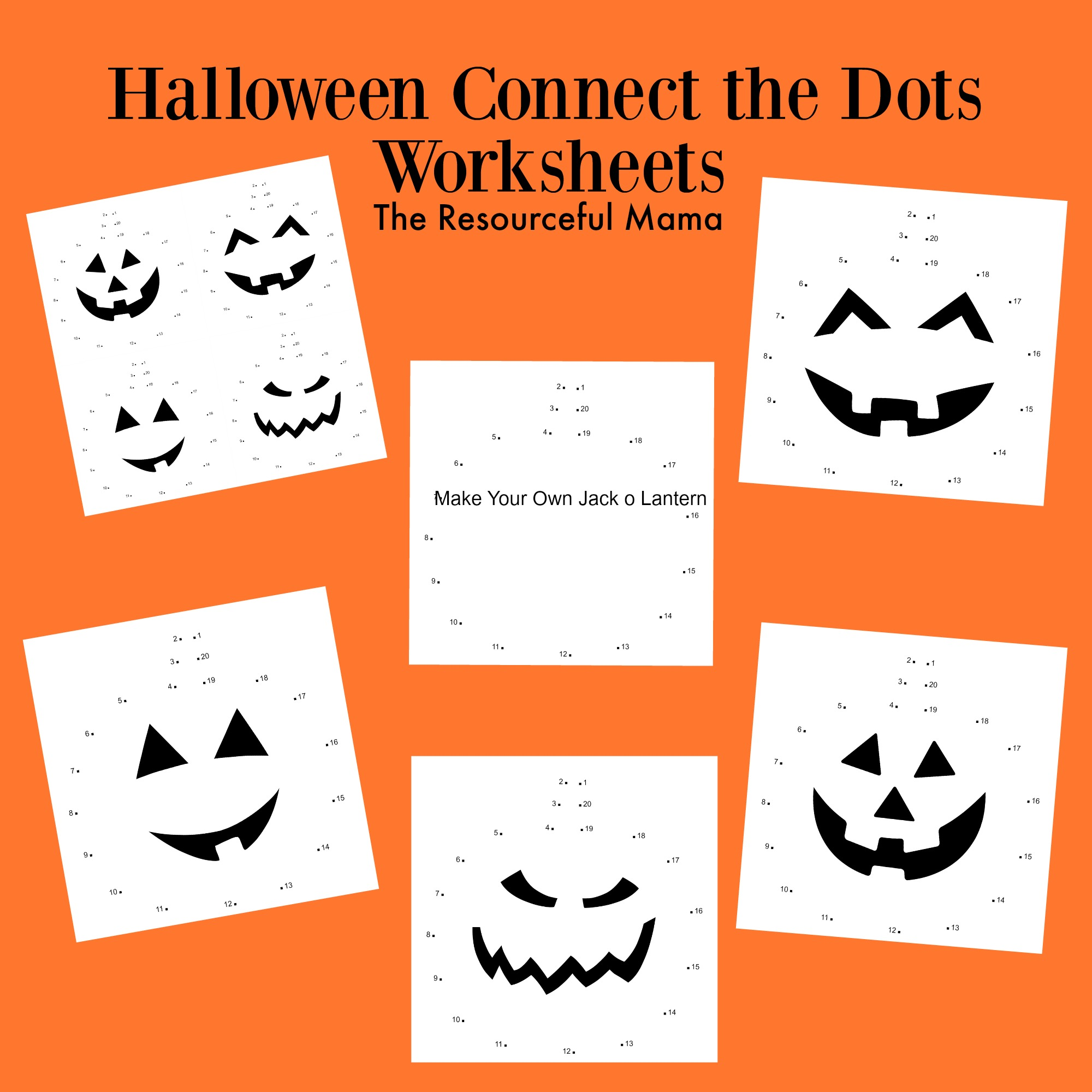 Halloween Connect The Dots Worksheets