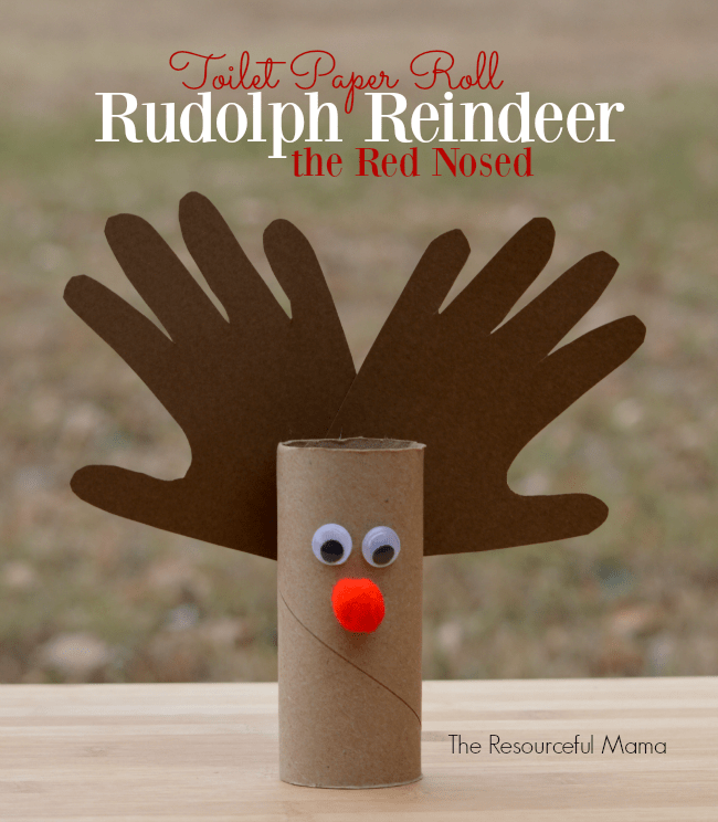 Toilet Paper Roll Reindeer Kid Craft The Resourceful Mama