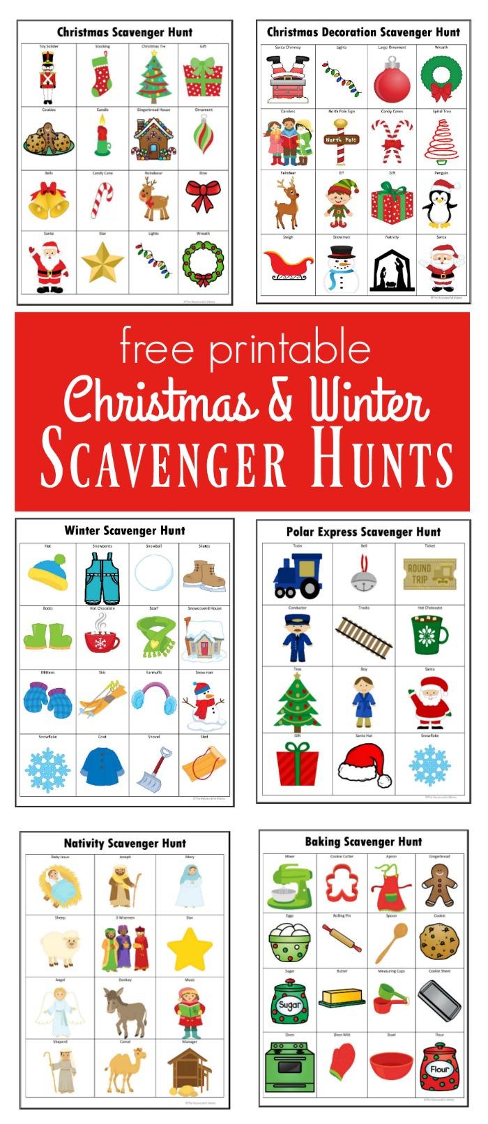 Winter Amp Christmas Scavenger Hunts Free Printables The