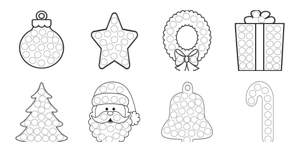 More Christmas Dot Painting Free Printables The