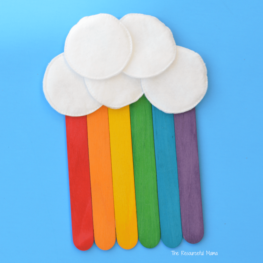 Craft Sticks Rainbow Craft The Resourceful Mama