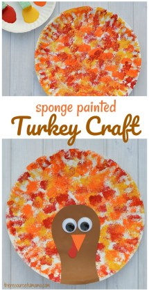 Image result for sponge paint turkey crafts